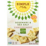 (6 Pack) Simple Mills Crackers, Rosemary & Sea Salt, Almond Flour, 4.25 Oz.