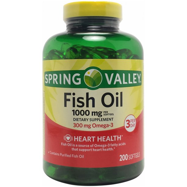 Spring Valley Fish Oil Mini, 600mg, 150ct, (2x75ct)