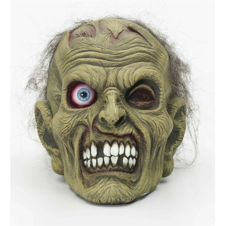 Zombie Head Mask Halloween Costume Accessory