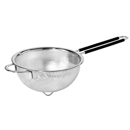 Oggi 5627.0 Perforated 6.5-inch Stainless Steel Colander with Soft-Grip