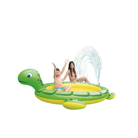 "214"" Green and Yellow Inflatable Sea Turtle Children"
