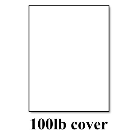 White Cardstock Thick Paper - 8 1/2 x 11
