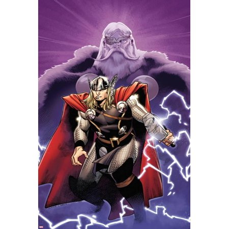 The Mighty Thor No.2 Cover: Thor and Odin Poster Wall Art By Olivier