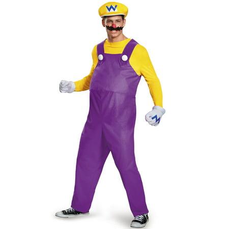 Wario Deluxe Adult Costume - Wario Adult Costume