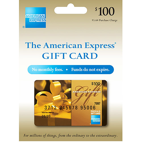 $100 American Express Gift Card (purchase fee included) - Walmart.com