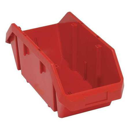 - Quantum Storage Systems 60 lb Capacity, Cross-Stacking Bin, Double Hopper, Red QP1887RD