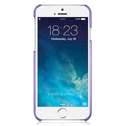 "Macally Metallic Snap-on Case for Apple iPhone 6 4.7"", Metallic Purple"