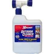30 SECONDS Outdoor Cleaner with Hose End Sprayer For Stains From Algae, Mold and Mildew
