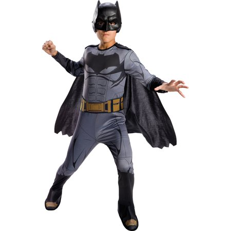 Hero Halloween Costumes (Justice League Boys Batman Dc Superhero Childs Halloween)