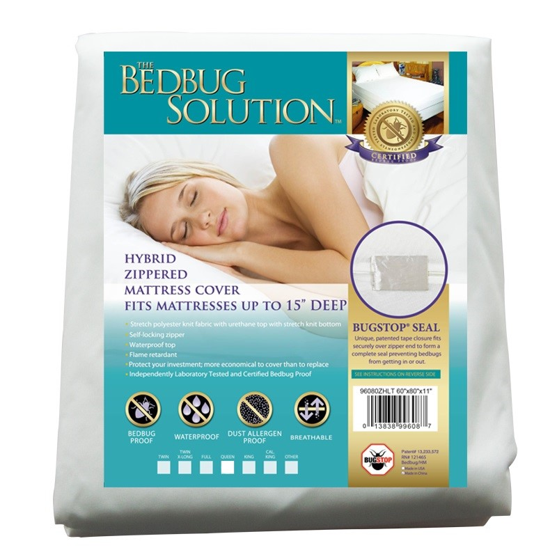 BedBug Solution Elite Zippered Mattress Cover (12 In. deep)