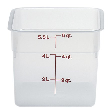 Cambro CamSquare� 6 qt Translucent Food Storage Box - 8 3/8