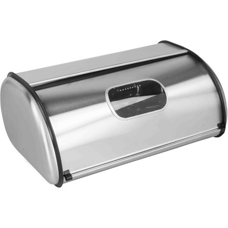 Home Basics Bread Box Stainless Steel With Window