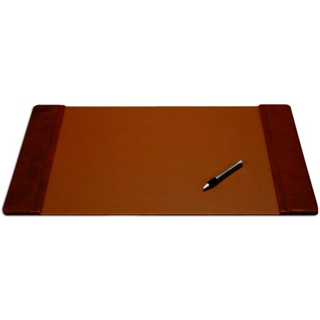 Mocha Leather 25.5 x 17.25 Side-Rail Desk Pad