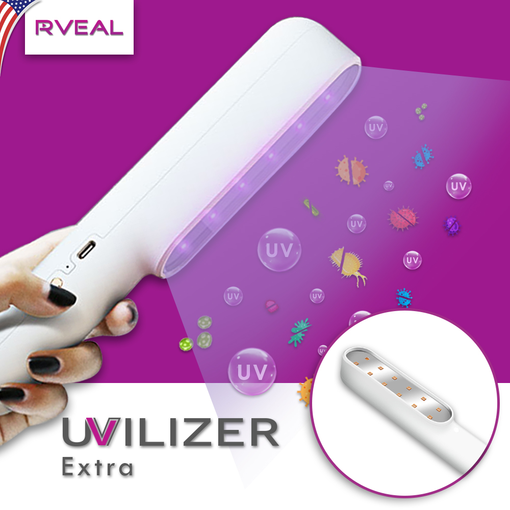 UVILIZER Extra 7W LED Light Li-on Rechargeable Battery 2 PACK