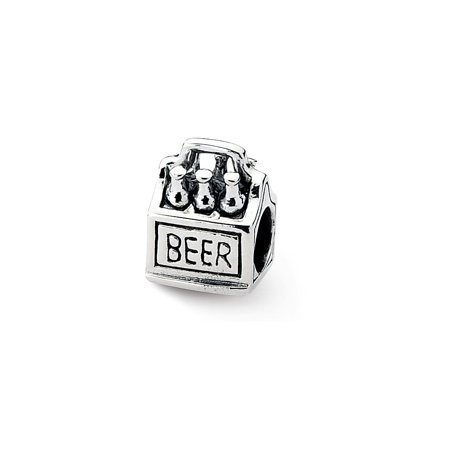 925 Sterling Silver Charm For Bracelet 6 Pack Beer Bead Food Drink - Halloween Food And Drinks