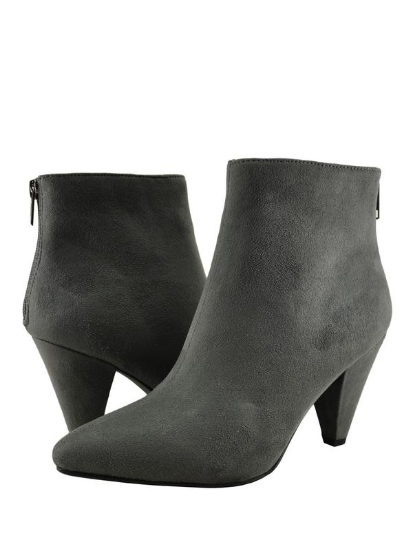 Delicious ThunderWomen's Ankle Heeled Suede Booties