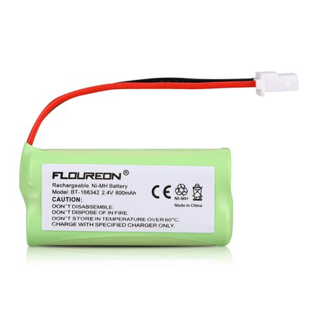 3 FLOUREON Cordless Home Phone Battery Pack 2.4V 800mAh Ni-MH for BT-166342 BT183342 BT283342 ()