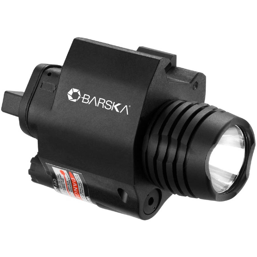 Barska Red Laser Sight with 200 Lumen Flashlight, Black by Barska