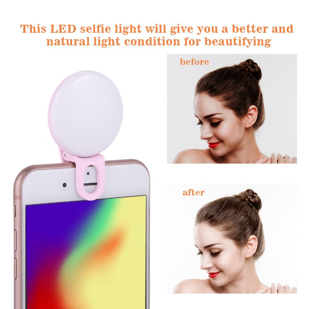 Portable Mini USB Rechargeable Clip on LED Selfie Fill Light for Mobile Phone Photography, Portable Selfie Light, LED Selfie Light