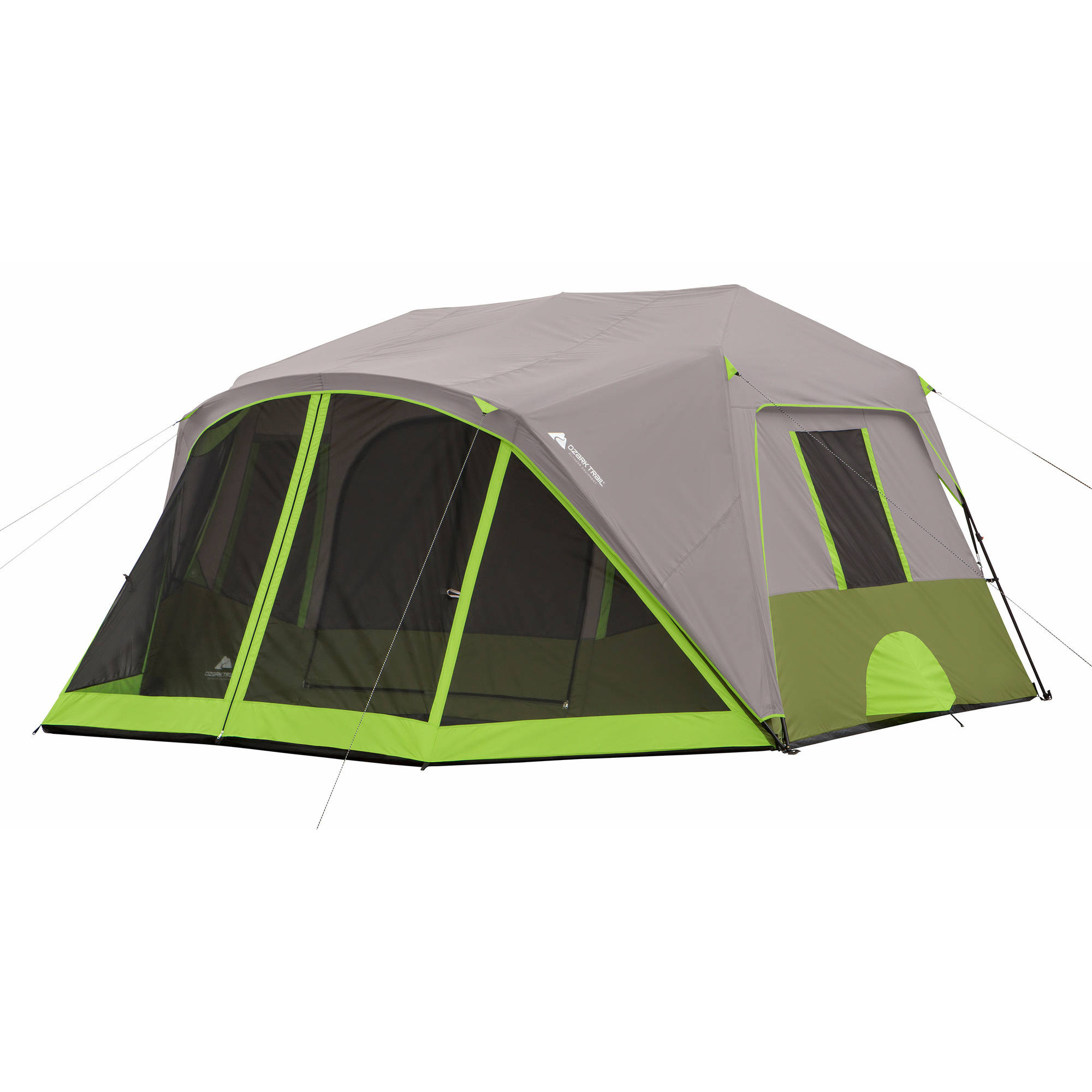 Ozark Trail 9 Person 2 Room Instant Cabin Tent with Screen Room  sc 1 st  Walmart & Ozark Trail 9-Person Instant Cabin Tent with 2 Bonus Queen Airbeds ...