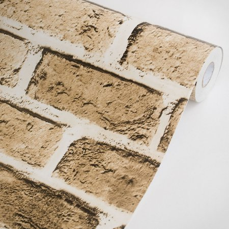 - Soil Brick - Vinyl Self-Adhesive Wallpaper Prepasted Wall Decor (Roll)