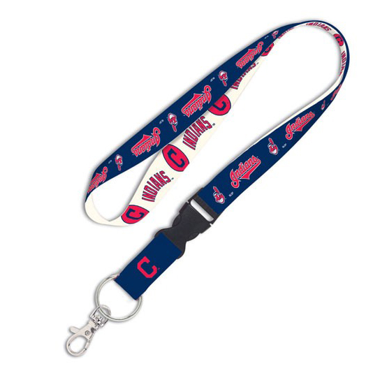 WinCraft Cleveland Indians Team Wordmark Lanyard with Detachable Buckle - No Size