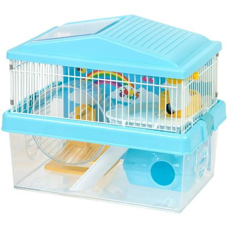 IRIS 2-Tier Hamster Cage, Blue ()
