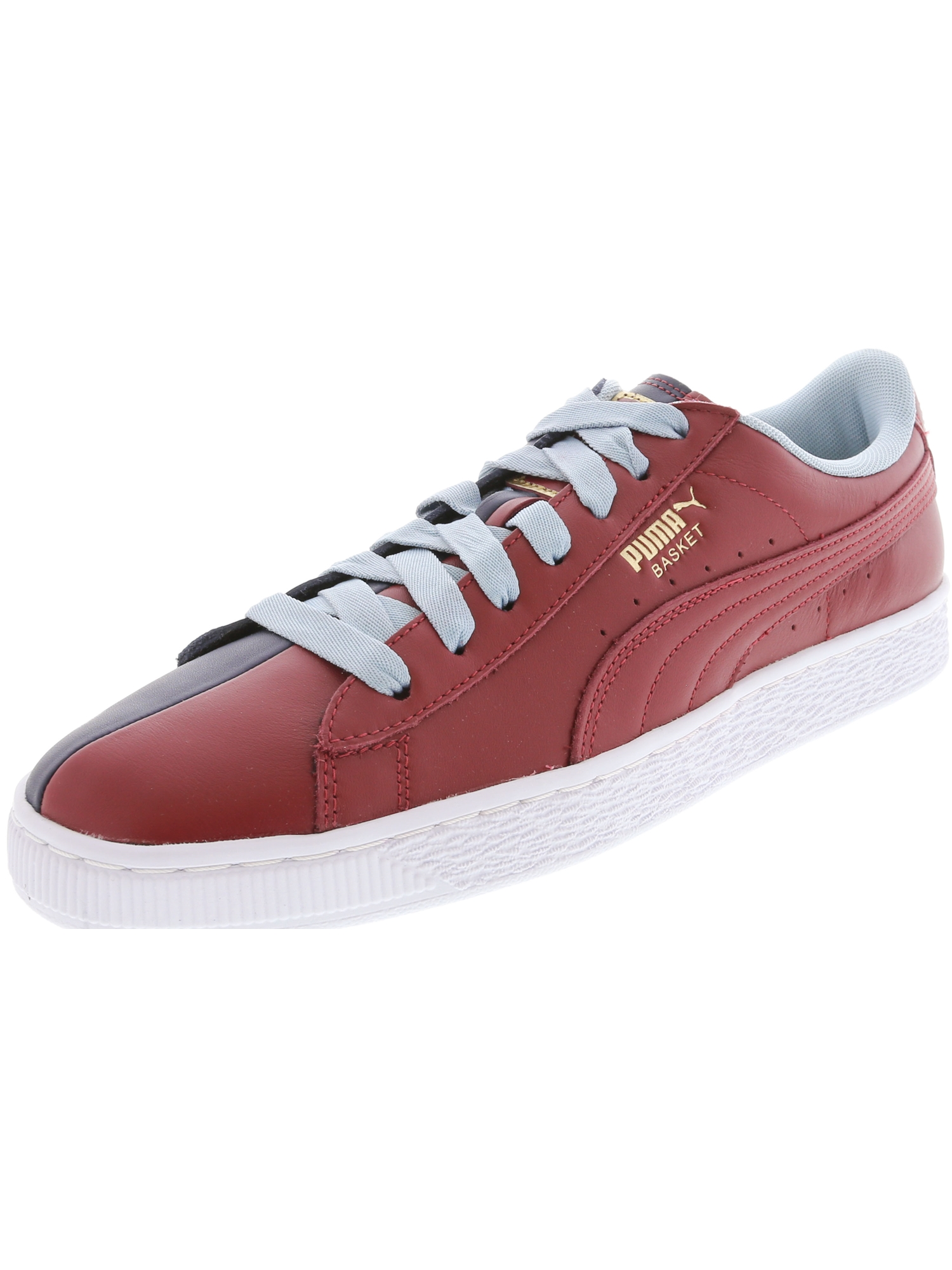 Puma Women?s Basket New School Every Day Sneaker - 11M - Pomegranate / Peacoat