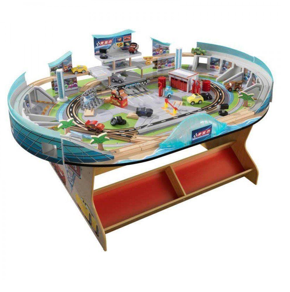 KidKraft Disney Pixar Cars 3 Florida Speedway Train Table Racetrack by KidKraft