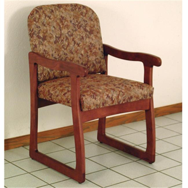 Wooden Mallet DW7-1MHWR Prairie Guest Chair in Mahogany - Watercolor Rose