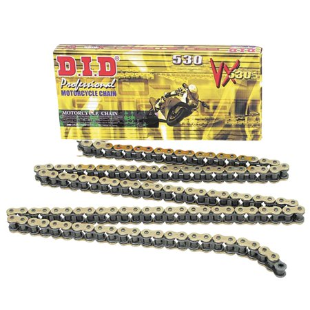 Did 530Vx Pro Street X Ring Vx Series Chain 130 Links Gold Black For Street Motorcycle