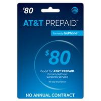 $80 AT&T Prepaid Phone Card