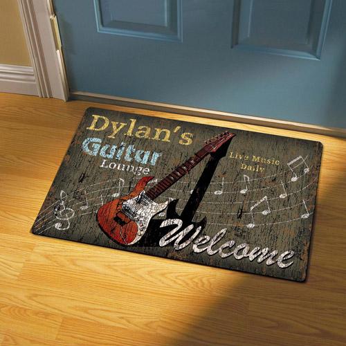 Personalized Guitar Lounge Doormat