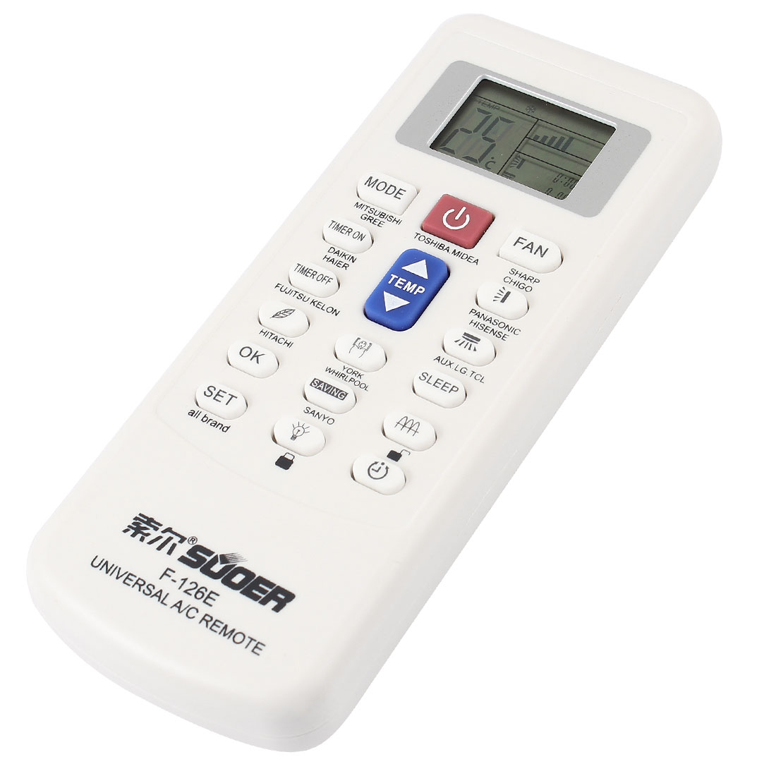 Universal LCD Display Plastic Shell Air Conditioner A/C Remote Control