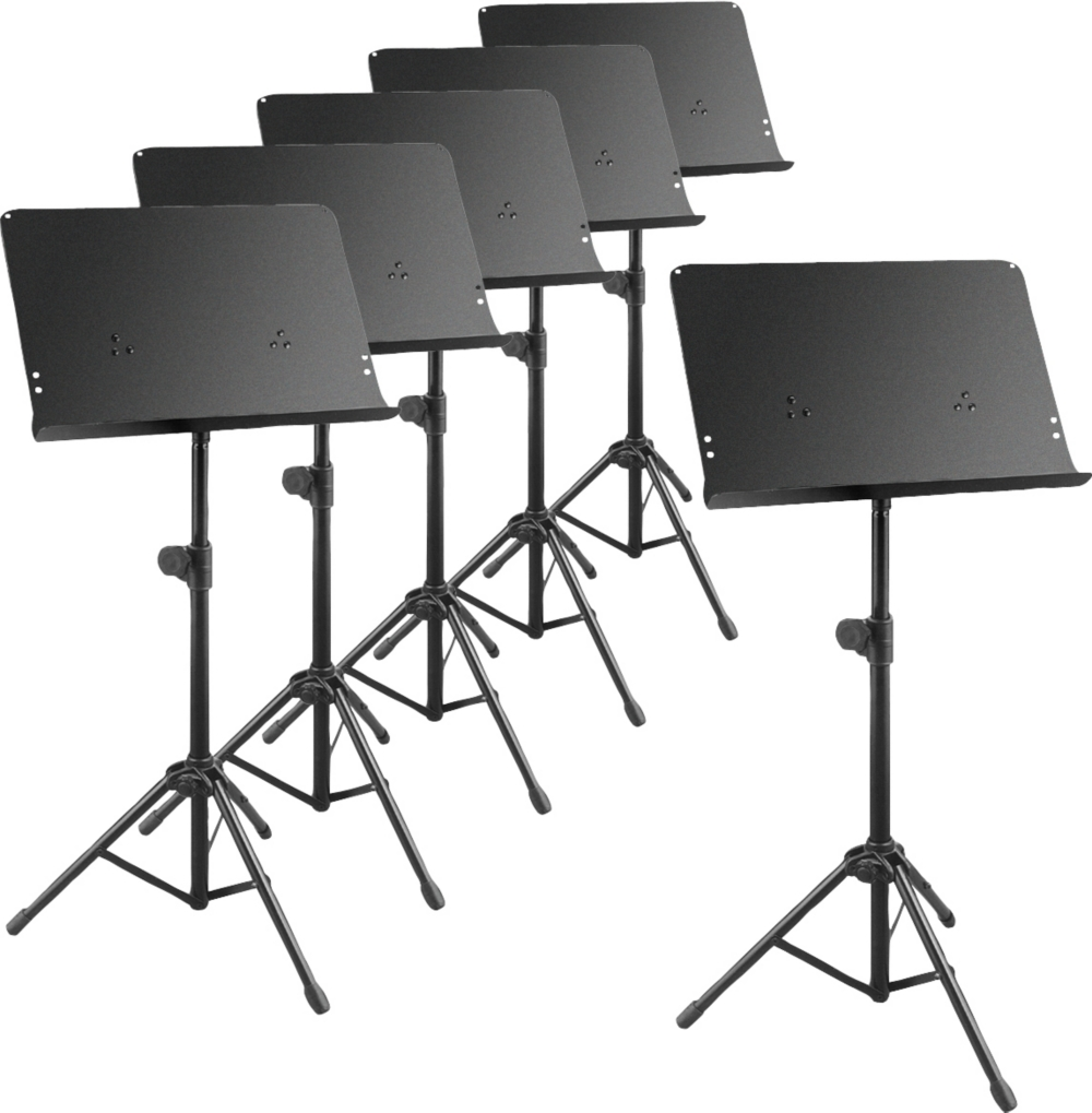 Musician's Gear Deluxe Music Stand 6-Pack by Musician's Gear