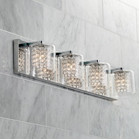 Possini Euro Design Coco 28 1 2 Wide Chrome 4 Light