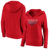 Women's Fanatics Branded Red Washington Capitals Team Lockup Pullover Hoodie