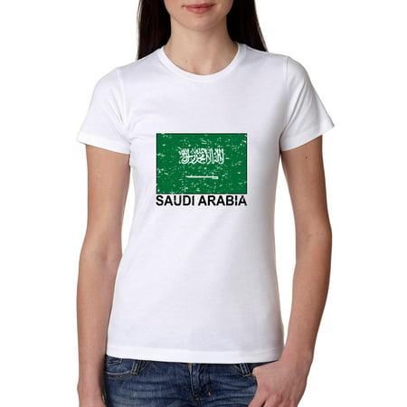 Saudi Arabia Flag - Special Vintage Edition Women's Cotton T-Shirt](Beautiful Arabian Womens)