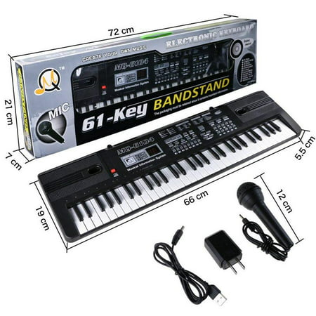 Piano Keyboard Music Digital Piano Electric Keyboards for kids Musical Instrument USB multi-function w/Microphone Weighted keys Birthday Christmas Festival Gift for (Best Semi Weighted Keyboard)