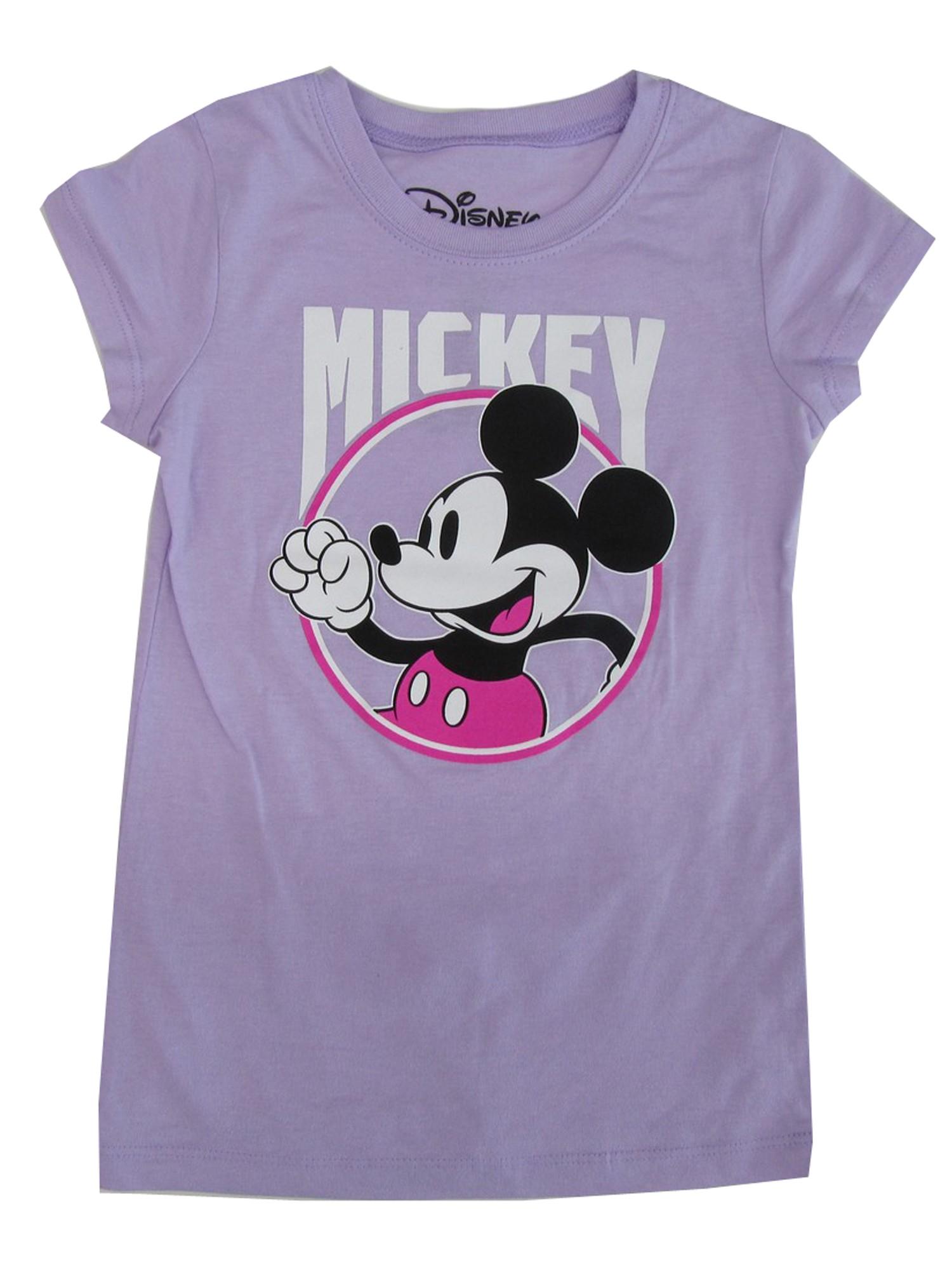 78be7cb0 Disney - Disney Girls Violet Mickey Mouse Print Short Sleeve Trendy ...