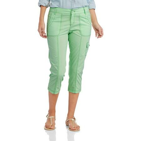 Beautiful Faded Glory Women39s PlusSize Relaxed Cargo Capri Pants  Walmartcom