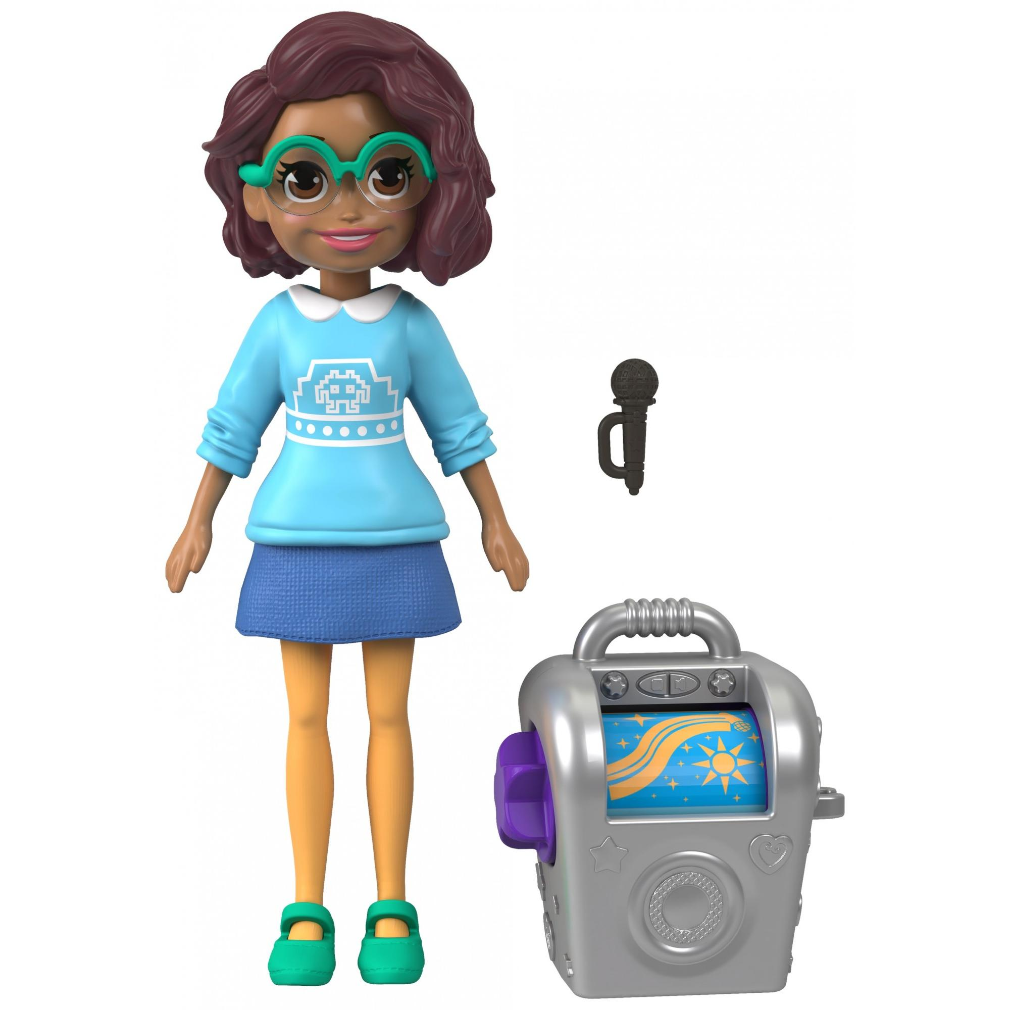 Polly Pocket Active Pose Karaoke Music Kween Shani Pose Doll with Stereo by Mattel