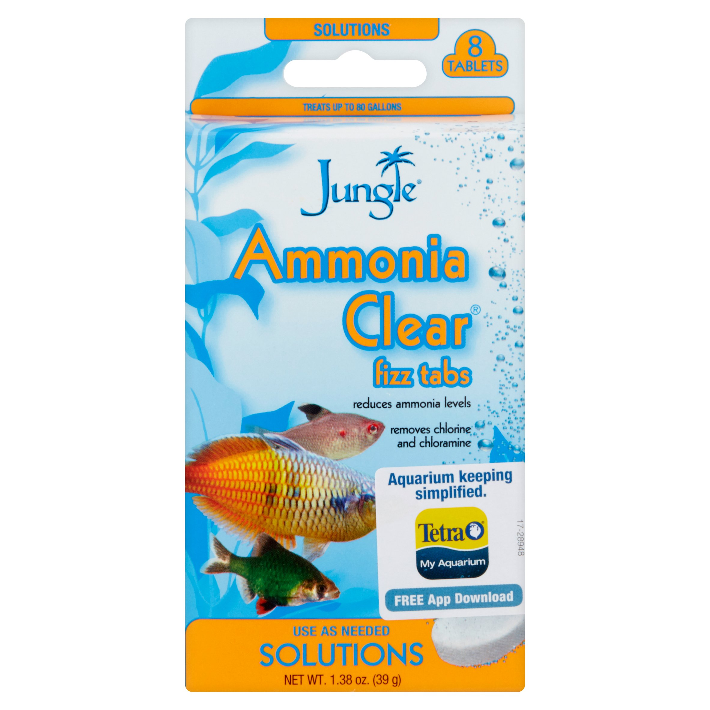 Jungle Ammonia Clear Fizz Tabs, 8-Count, 1.38-Ounce