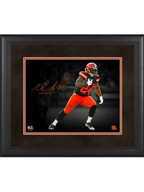 "Nick Chubb Cleveland Browns Framed 11"" x 14"" Spotlight Photograph - Facsimile Signature"