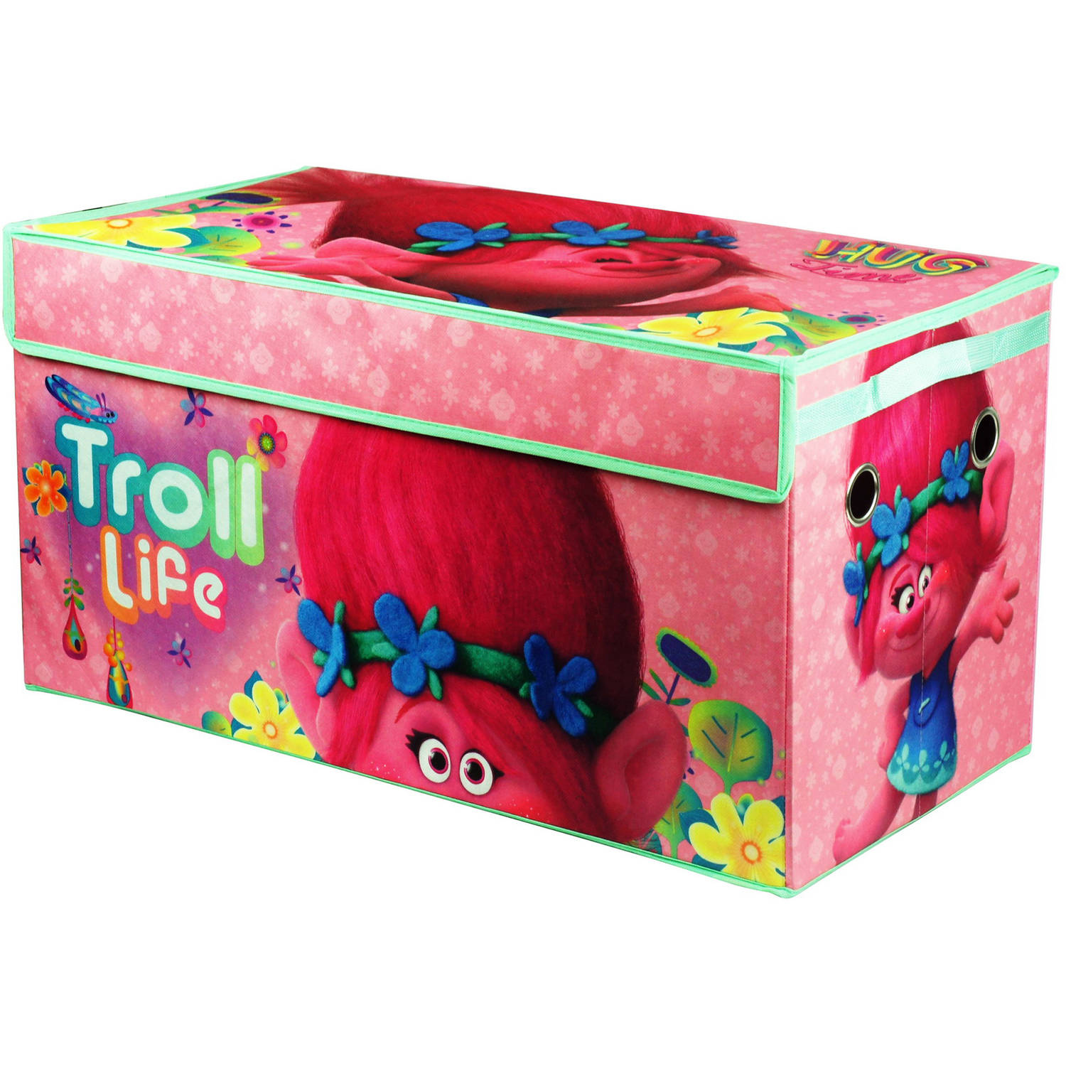 Captivating DreamWorks Trolls Oversized Soft Collapsible Storage Trunk
