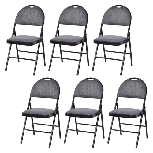 Costway Fabric Padded Folding Chair (Set of 6) by Costway