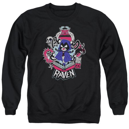 4ca72c20ca69 Teen Titans Go! Cartoon Series Raven Adult Crewneck Sweatshirt ...