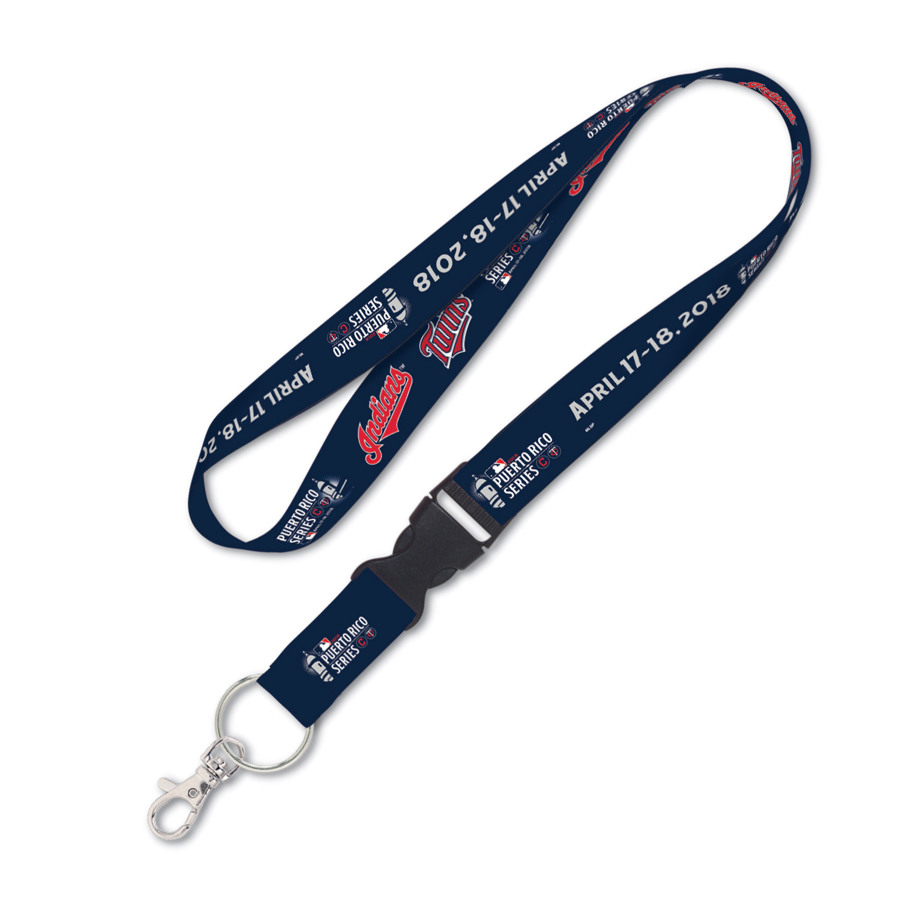 Cleveland Indians & Minnesota Twins WinCraft 2018 Puerto Rico Series Dueling Lanyard - No Size