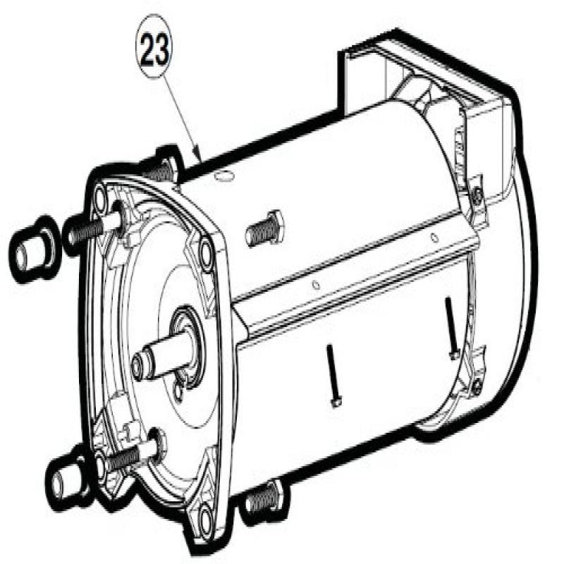 Hayward SPX3400Z1ECM 2.7-Horsepower Motor Assembly Replac...