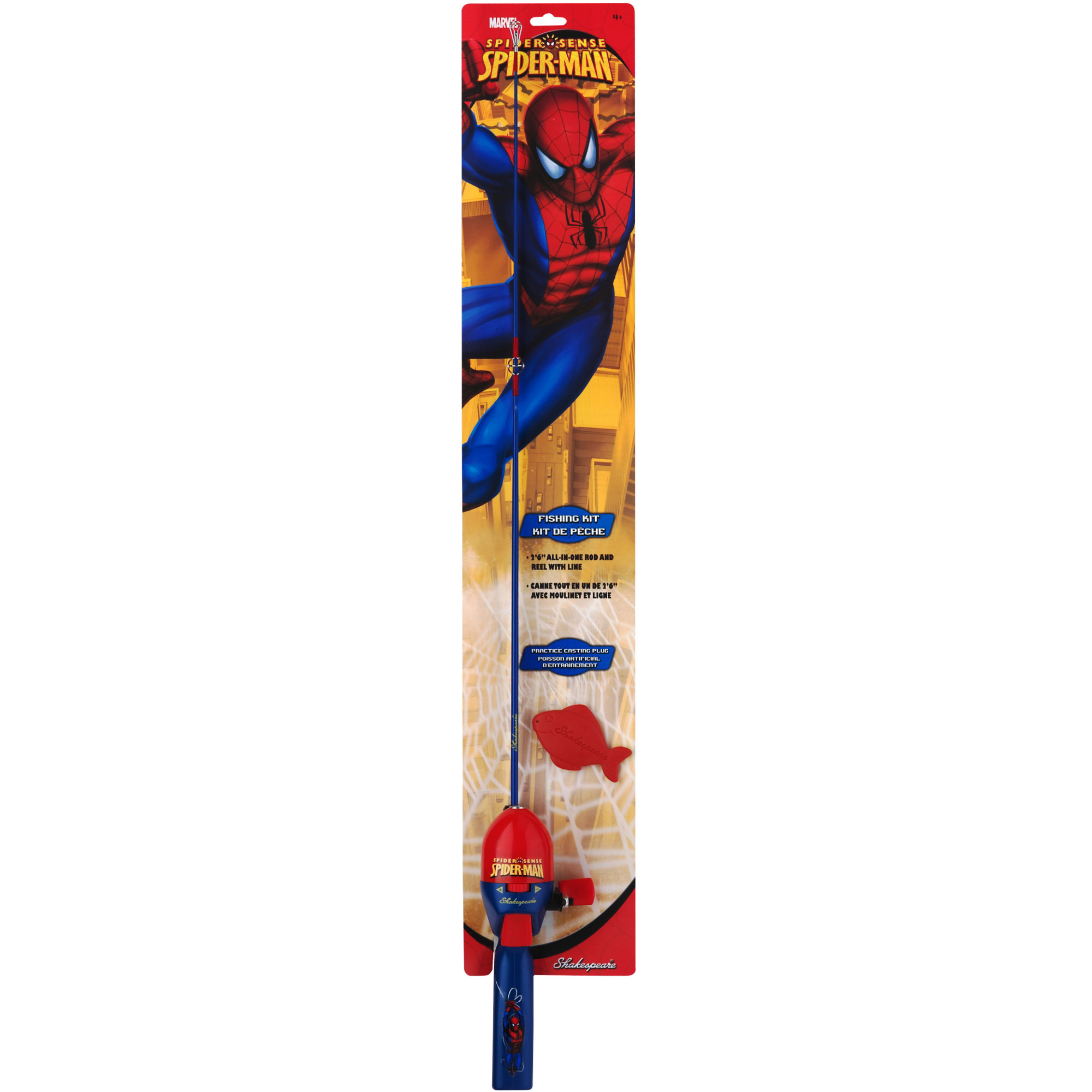Shakespeare Spider-Man Fishing Kit with 2'6